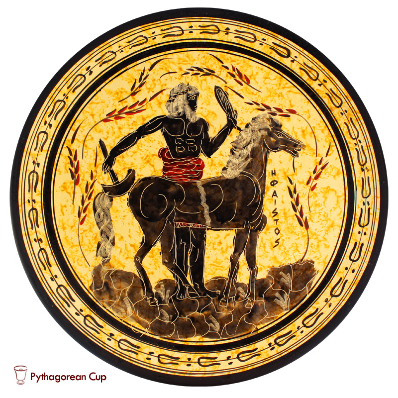 Hephaestus - Handmade clay plate