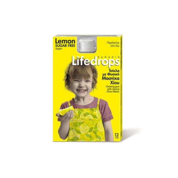 Mastic Gum Lifedrops Lemon Sugar free