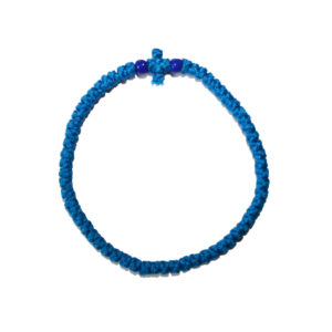 Prayer rope - Komboskini (blue thin)