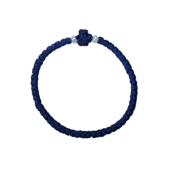 Prayer rope - Komboskini (dark blue thin)