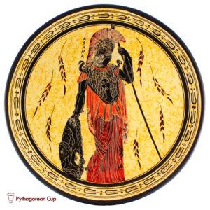Athena - Handmade clay plate