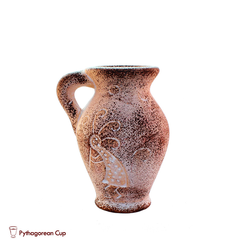 Mini Clay Jug Pythagorean Cup